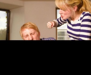 Create meme: grumpy wife photo, photo the husband beats the wife, much fought with my wife