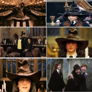 Create meme: harry potter sorting ceremony, harry and the sorting hat, lily potter