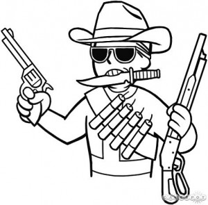Create meme: The robbery of the worlds cowboy