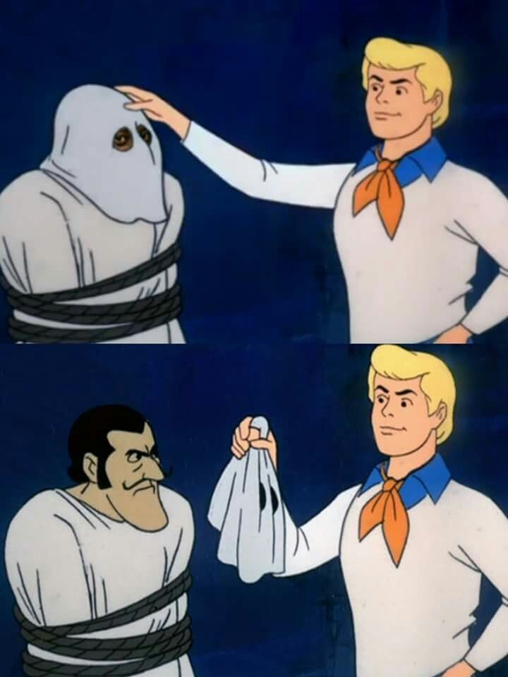 Создать мем: scooby doo meme, scooby doo unmasked, scooby doo where are you