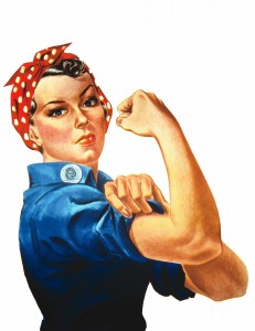 Создать мем: we can do it, rosie the riveter
