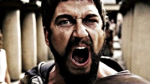 Создать мем: это спарта, this is sparta gif, царь леонид