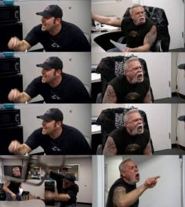 Создать мем: american chopper мем шаблон, american chopper meme template, american chopper мем