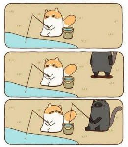 Create meme: funny comics , drawings for comic cat, Japanese comics about a cat