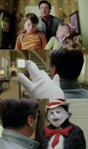Создать мем: cat in the hat 2003 alec, sally the cat in the hat, кот фильм 2003