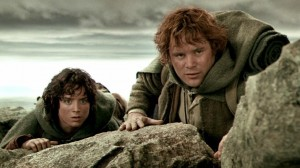 Create meme: series , j r r tolkien, Frodo and Sam in the tower pictures