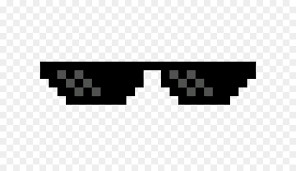 Create meme: pixel glasses for photoshop on a transparent background, picture glasses thug life, pixel glasses png