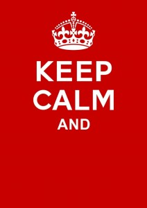 Create meme: keep calm and love , keep calm and carry on , with a crown