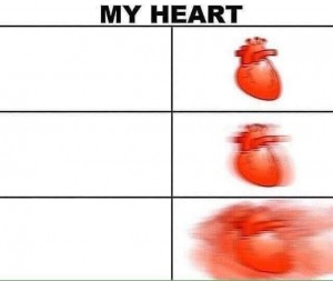 Create meme: old meme, exercise , heart meme