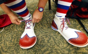 Create meme: shoes , A Mile in His Shoes, photo of clown shoes
