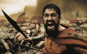 Create meme: Spartan , leonidas , this is sparta