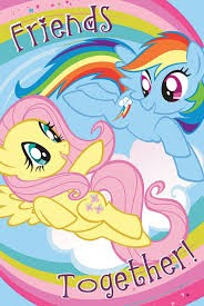 Create meme: my little pony poster, Friendship is a miracle, pony fluttershy and rainbow