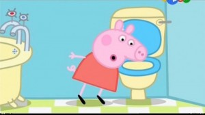 Create meme: Peppa toilet
