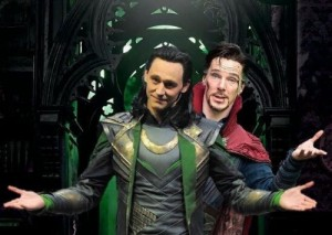 Создать мем: Loki and Dr Strange