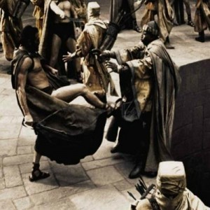 Создать мем: spartan, this is sparta, 300 спартанцев