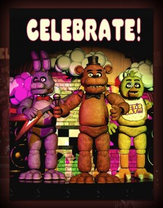 Создать мем: fnaf celebrate постер, Five Nights at Freddy's, fnaf 1 celebrate постер