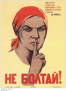 Create meme: poster don't talk, talking , soviet poster