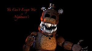 Создать мем: withered freddy image, nightmare withered freddy, fnaf 4 nightmare fredbear