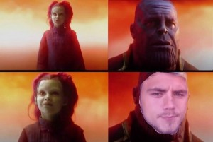 Создать мем: танос и гамора мем, танос what did it cost, thanos what did it cost