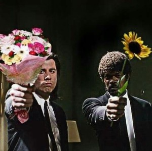 Create meme: Pulp fiction flowers