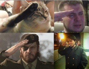 Create meme: All salute