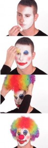 Создать мем: make up, clown, clown memes