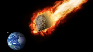 Создать мем: The asteroid flew past into the earth