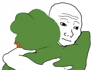 Создать мем: sad frog, pepe the frog, pepe