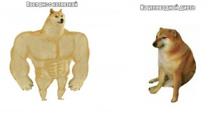 Create meme: strong doge, dog and chims, Jock the dog