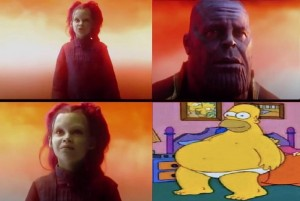 Create meme: old memes, character, thanos what did it cost
