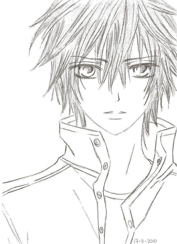 anime vampire knight coloring pages  coloring and drawing