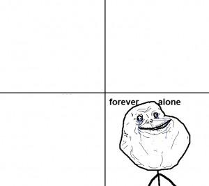 Создать мем: один сидишь я возьму стул forever alone мем, forever alone приколы, forever alone вертикальная картинка