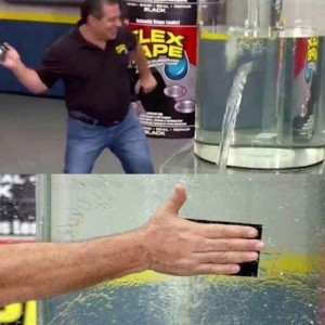 Create meme: the guy who glued up a barrel with water meme, man glued up a barrel with water meme, flex tape meme template