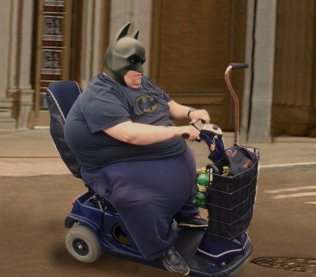Create Meme Funny Fails Fat Batman Pictures Grandmother Batman