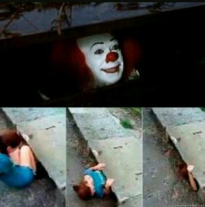 Create meme: create meme clown in the sewers, it is the clown in the sewer, clown it meme