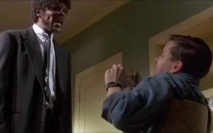 Create meme: pulp fiction english mother, pulp fiction gif, GIF pulp fiction