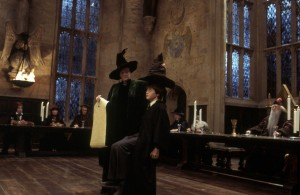 Create meme: sorting hat harry potter, harry potter and the philosopher's stone , harry potter scenes