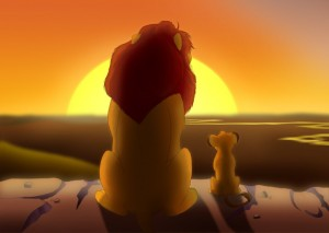 Create meme: our first morning lion king, the lion king , the lion king good morning