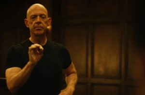 Create meme: laughing j K Simmons, obsession movie starring, dark obsession