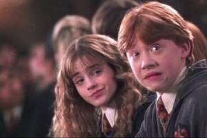Create meme: Harry Potter Hermione Granger and Ron Weasley, Ron Weasley, ron weasley and hermione granger