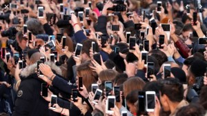 Create meme: people , the audience, many people with phones