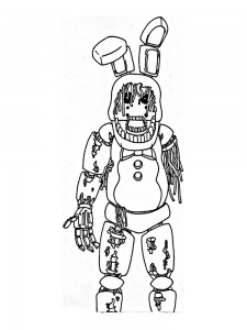 Создать мем: fnaf coloring, fnaf toy chica, coloring pages