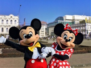 Create meme: Mickey and Minnie mouse in Stavropol, October 3, 2015