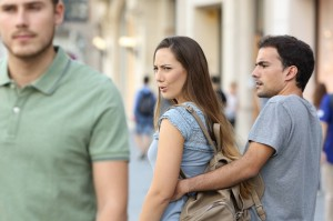 Create meme: take place, new man, distracted boyfriend meme