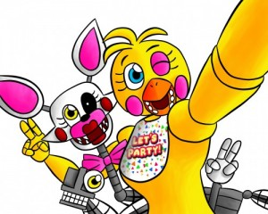 Создать мем: Фнаф Мангл и той Чика fnaf Mangle toy Chica