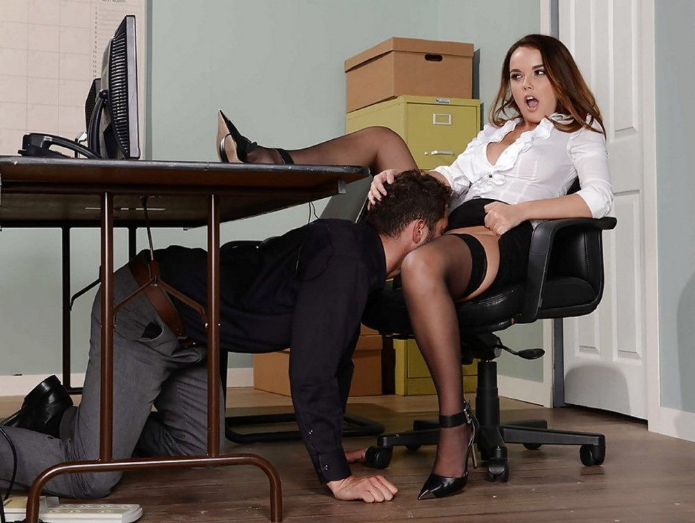 Glamorous Secretary Is Making Her Boss Feel Miserable With Canning And Spanking