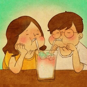 Create meme: puung, love the illustrations, drinking