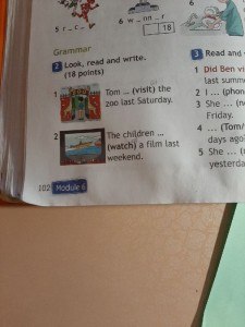 Создать мем: look read and write tom visit the zoo last saturday, look read and complete last saturday, grammar look ,read and choose