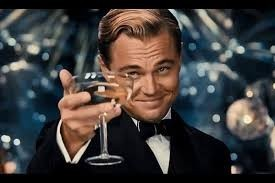 Create meme: Leonardo DiCaprio with a glass of, Leonardo DiCaprio the great Gatsby photo with a glass, Leonardo DiCaprio the great Gatsby