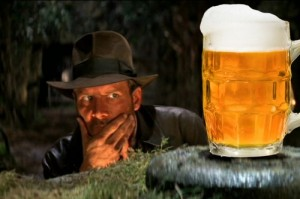 Create meme: Indiana Jones and the beer